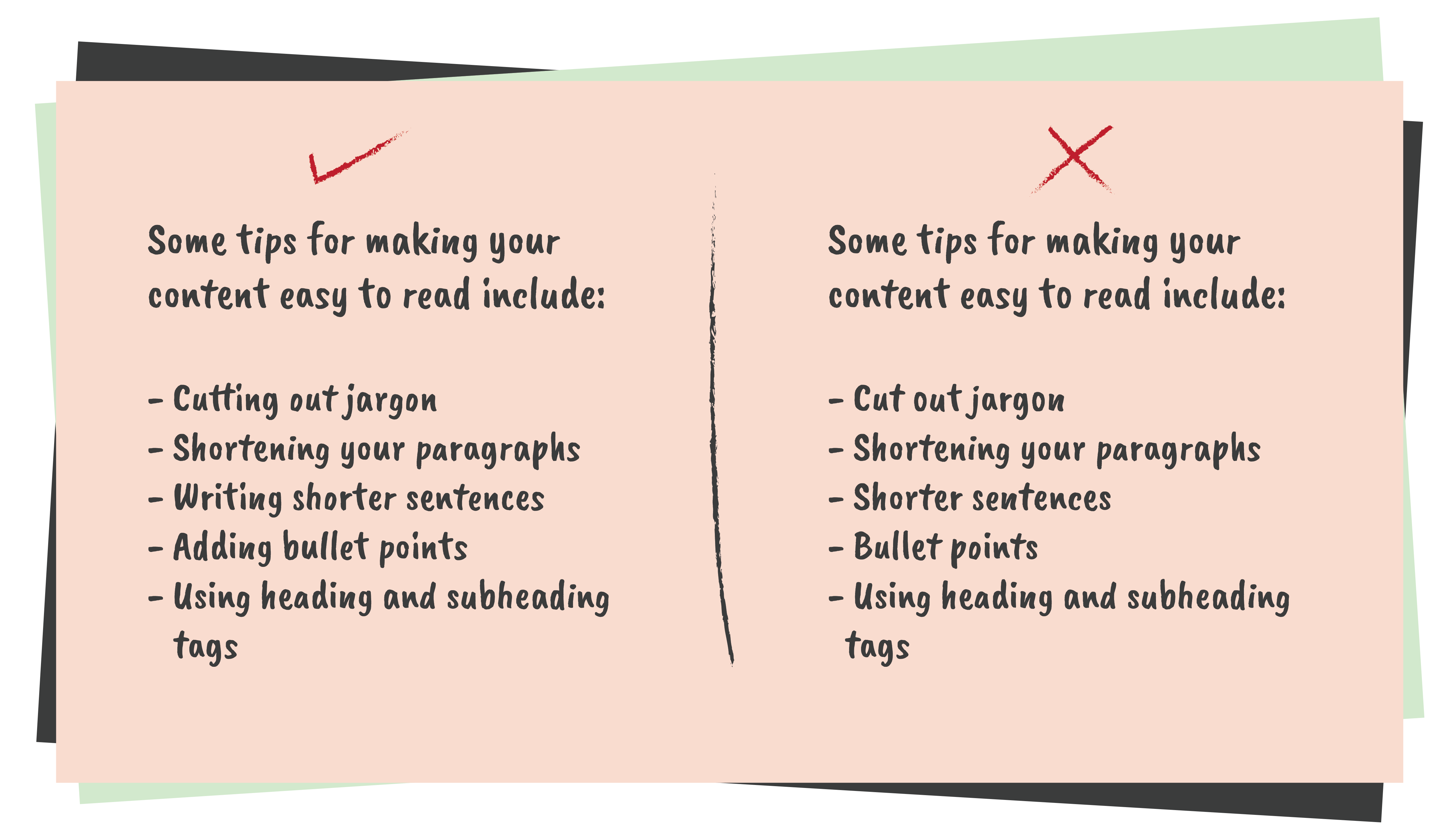 Bullet points - How to edit your writing